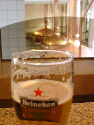 A Heineken in the Heineken factory....one of the real surprises of the tour!