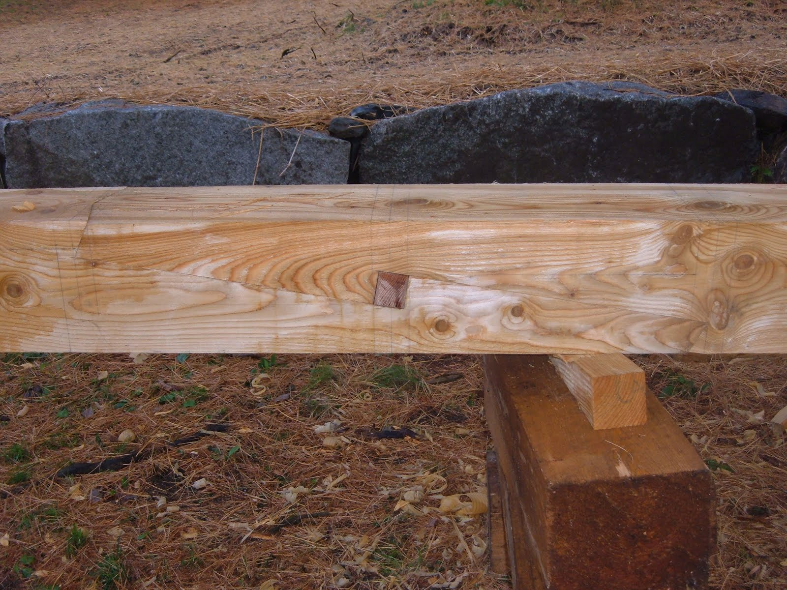 Here is the completed joint with the oak key inserted.