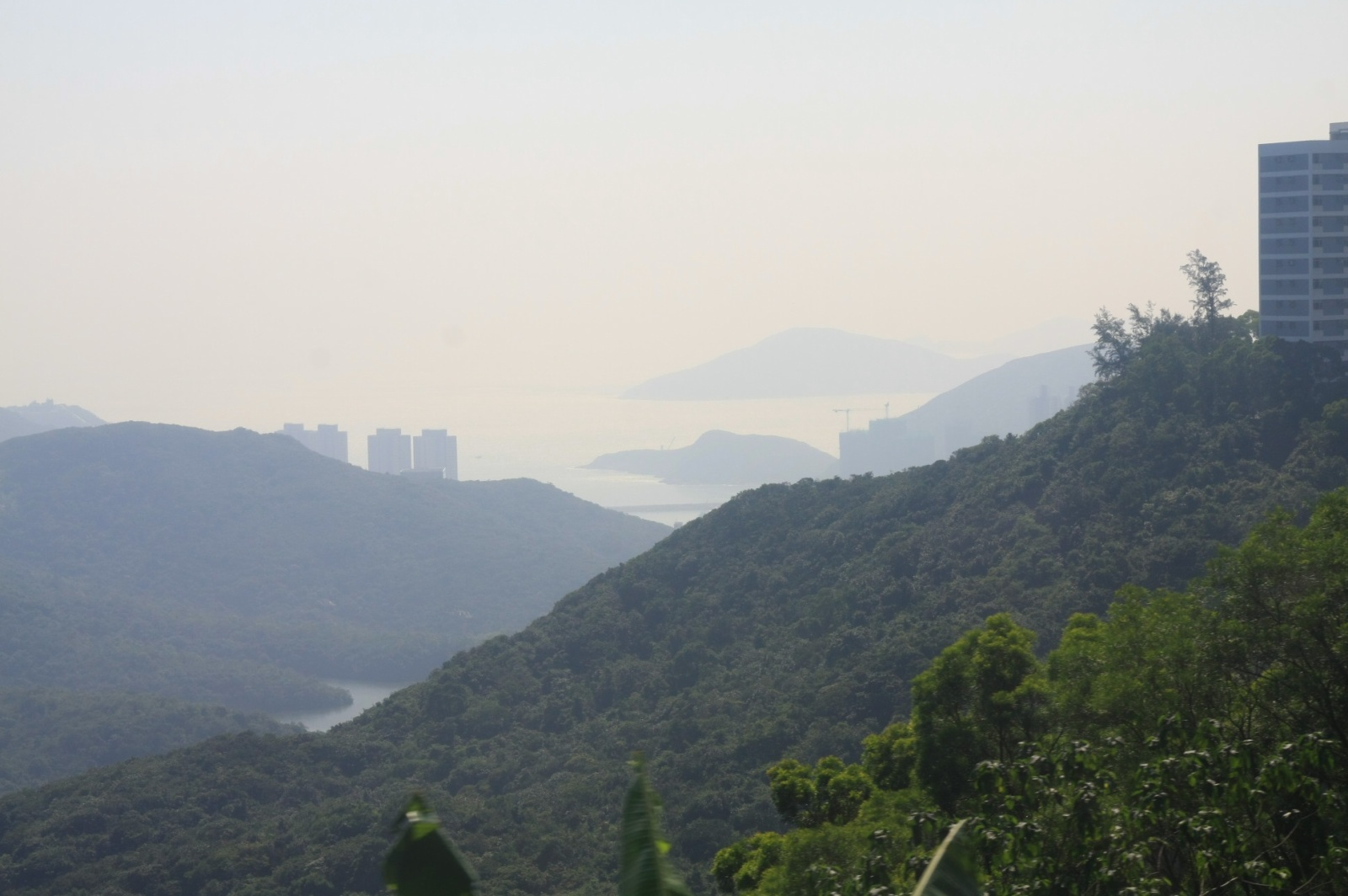 The other side of the Moon - Southern Hong Kong Island is almost always seen against the sun