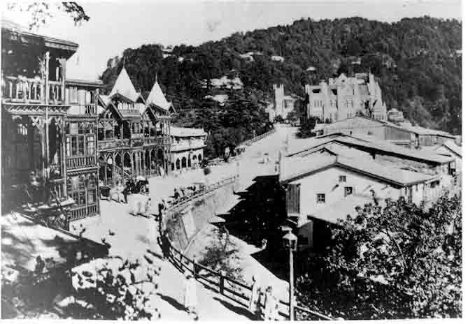 Old picture of Shimla Scandal Point