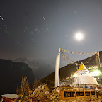 Stars moving over Namche Bazaar
