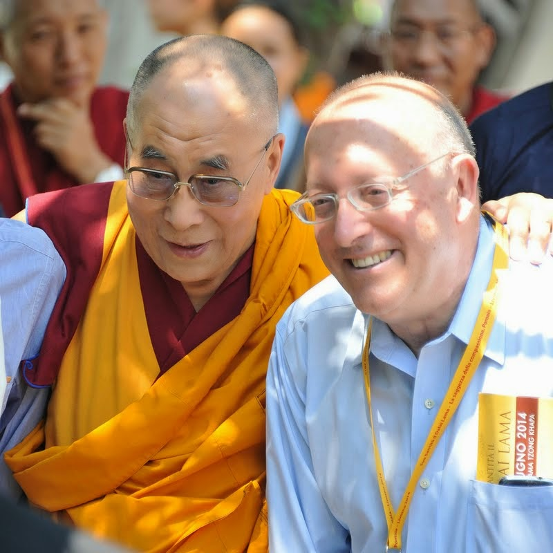 His Holiness the Dalia Lama and Massimo Corona, Istituto Lama Tzong Khapa, Italy, June 13, 2014. Photo by Sirianni.
