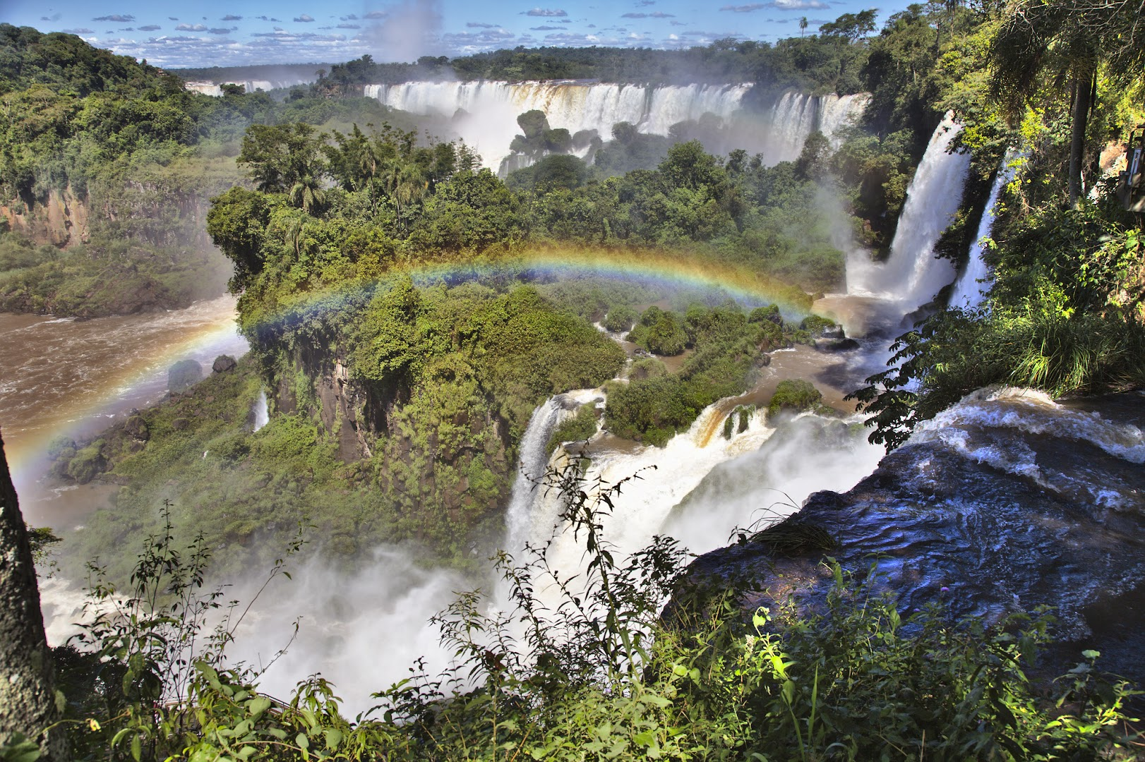 On Argentine side you can walk above or below the falls