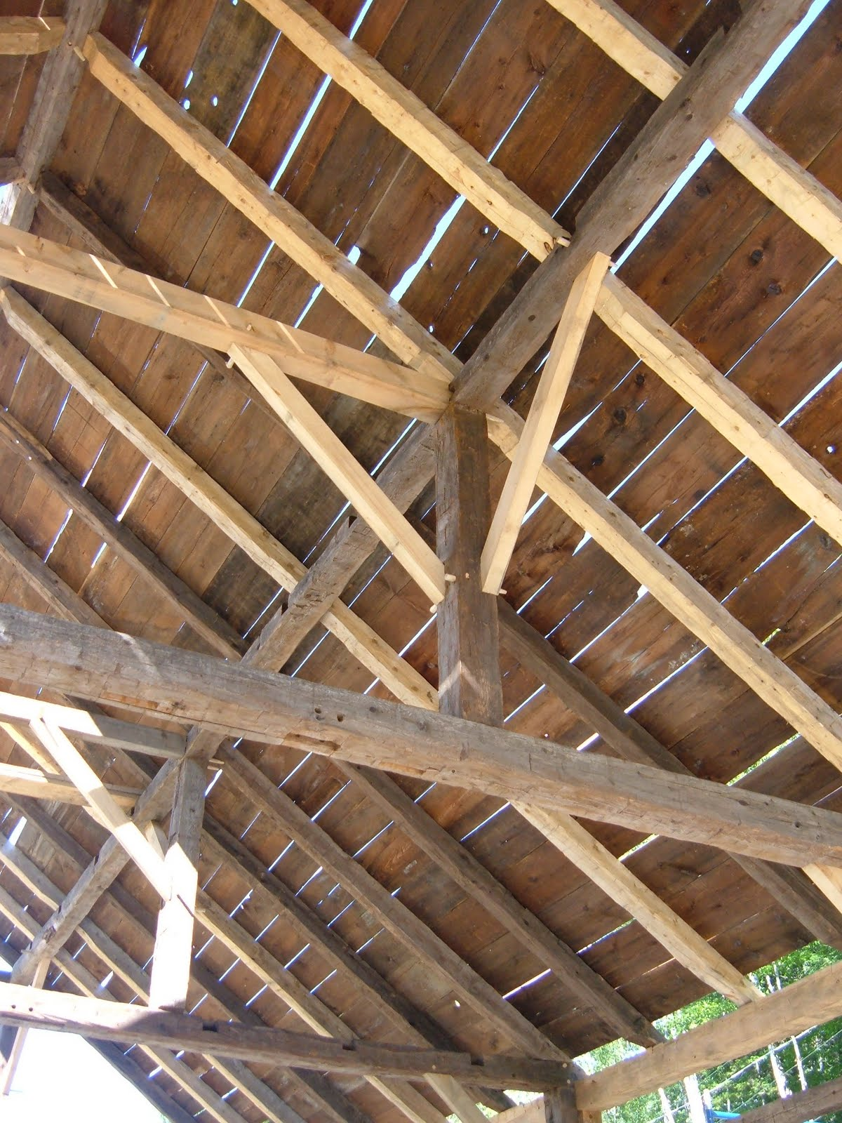 The homeowners had piles of the original boarding that they had hoped to reuse.  Most of the boards were so rotten and thin that there was barely enough to cover the roof.