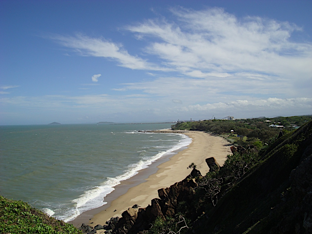 Lamberts beach, north Mackay. My overnight hotel was at the far end of the beach