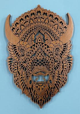 TATANKA Ornate Bison Pattern by Charles Hand. original by  Ben Kwok of BIOWORKZ