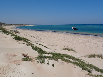 The beach at Port Gregory