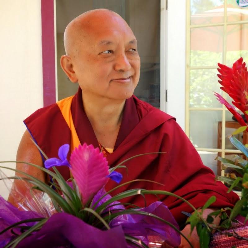 Lama Zopa Rinpoche at Kachoe Dechen Ling, Aptos, California, June 2014. Photo by Ven. Roger Kunsang.