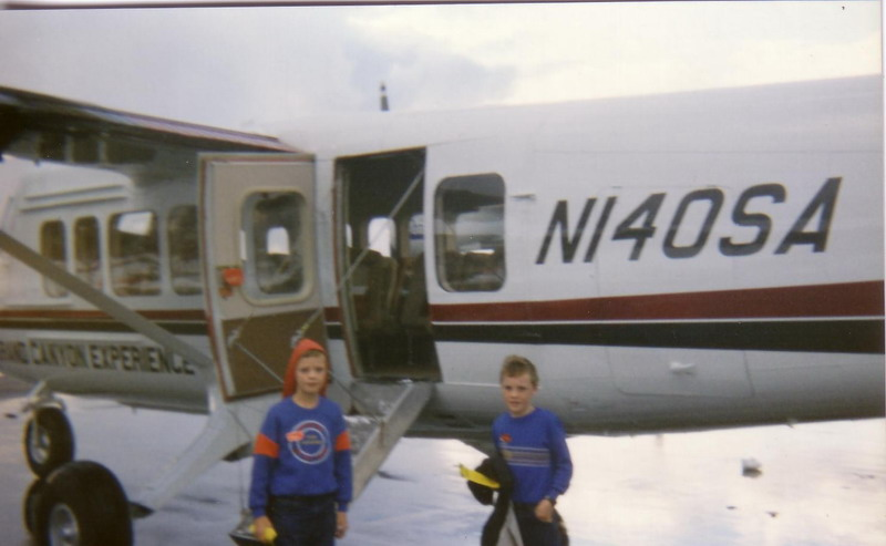 Andrew and I on the tarmac