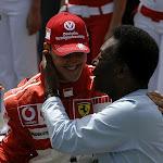 Pele congratultes Schumacher 2006 F1 GP of Brazil