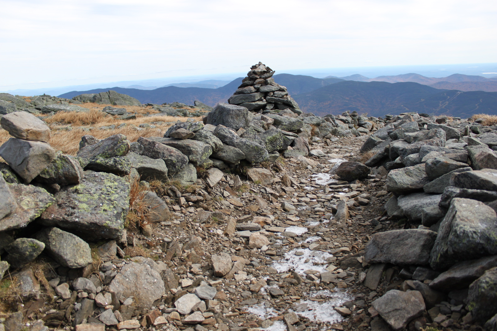 Cairns on the Mount Washington Auto Road - White Mountains, New Hampshire