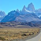 Mt Fitz Roy and Cerro Torres to the left