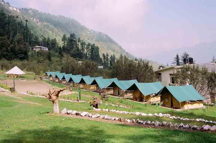 Tented accommodation in Mashobra
