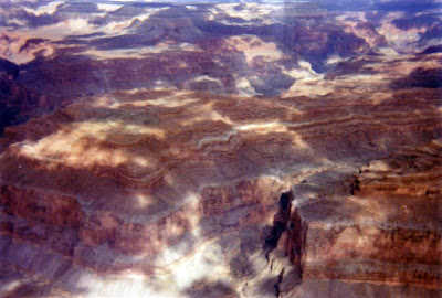 We flew from Las Vegas to the Grand Canyon. Here's the view from the plane