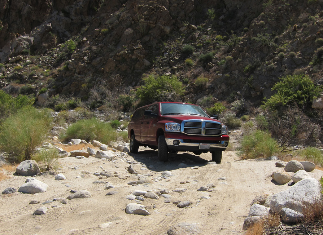 Daren's Dodge diesel managed to get him into Carrizo Gorge with no problems.