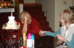 Rinpoche with Bob and Karuna Caytons mother , Aptos, Nov 2004