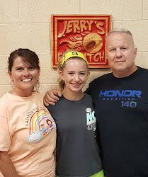 Bria Blume and her parents Robin and Paul from Fairdale, WV