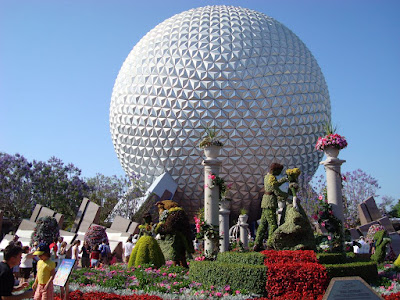 I had one day all to myself. I spent the day at the Epcot (one of the many different DisneyWorld parks)