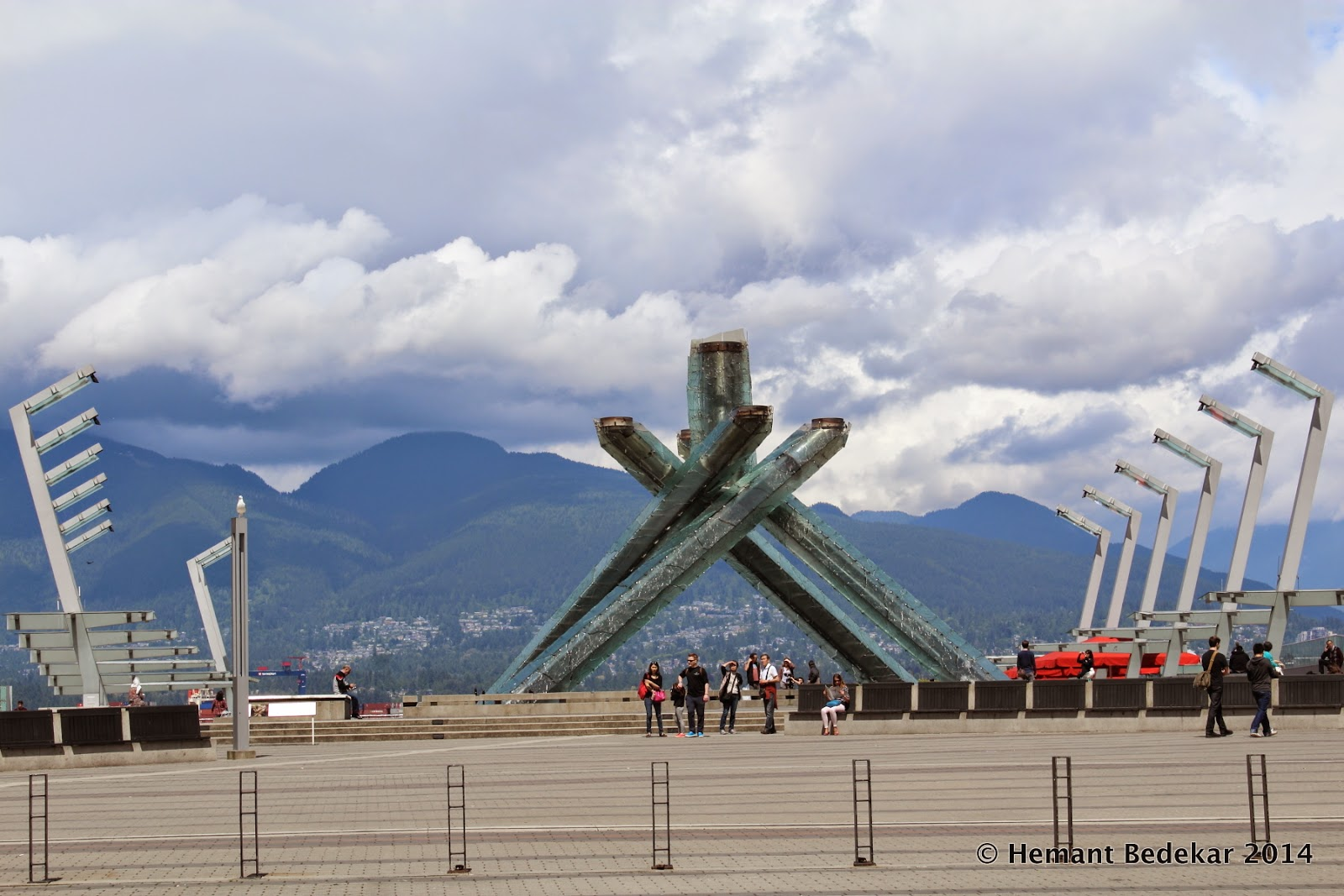 Vancouver Winter Olympics 2010 Cauldron in Coal Harbour