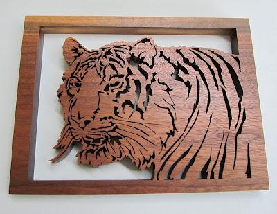 Siberian Tiger by Jacob Fowler   BLACK WALNUT