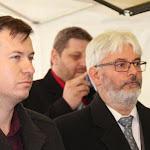 Mészáros Attila, az MNKH ipolysági irodájának a vezetője és Skapinyecz Péter, a MNKH Közép-európai Kereskedelemfejlesztési Hálózat igazgatója