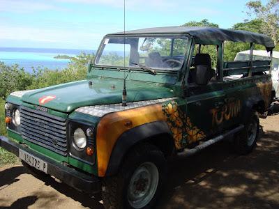 Our Jeep on our 4x4 Mountain Tour of Bora Bora