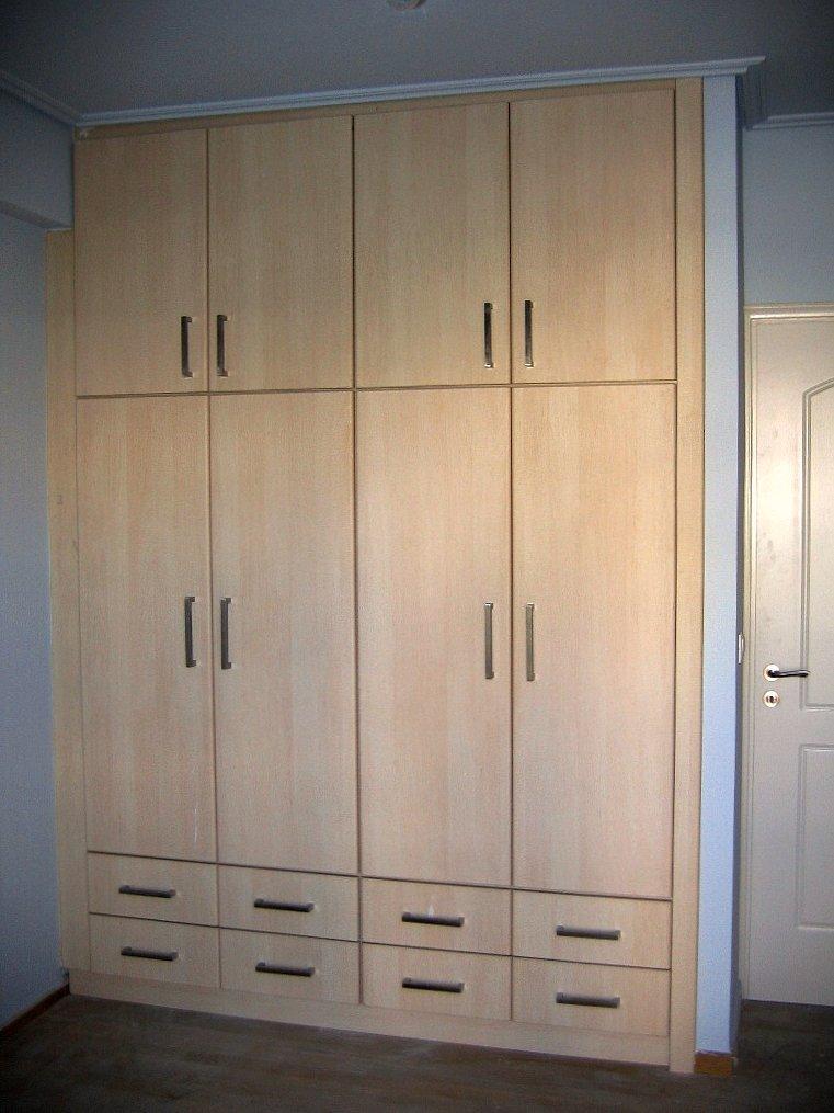 (Κωδ 4010) Πλήρως εντοιχιζόμενη ντουλάπα με συρτάρια εξωτερικά κάτω για εύκολη χρήση.Χρώμα σημύδα λευκή.
