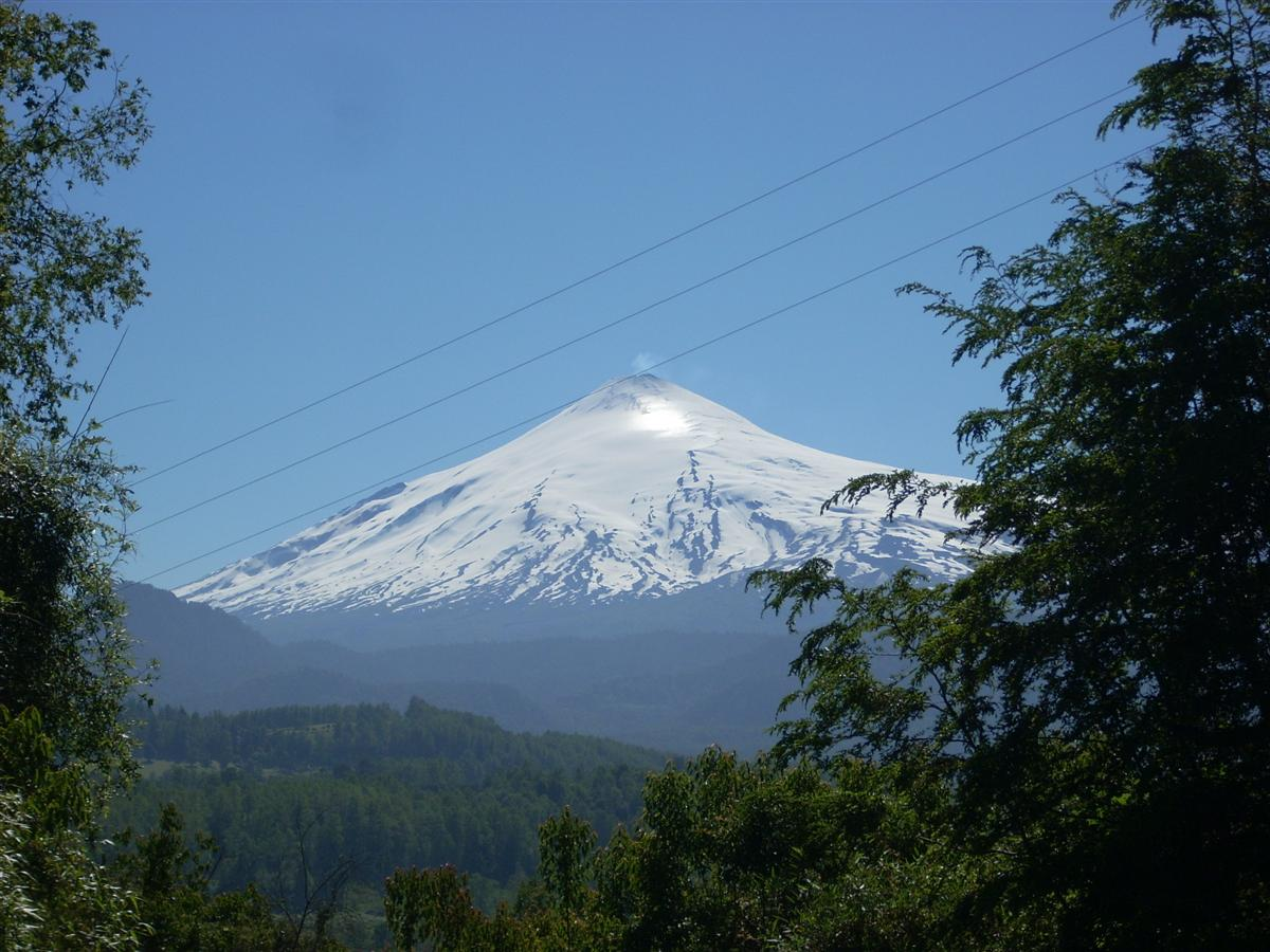 Villaricca Volcano - note the clouds of sulphuric gases coming out of it