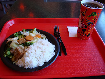 "My lunch in ""China"". That is a ""medium"" coke. I would hate to see the large"