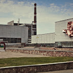 Buildings in front of the power plant - photography is forbidden here