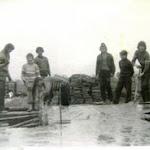 Budowa remizy strażackiej. Zdjęcia - Czesław Borowiec