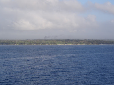 About to enter Luganville harbour