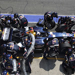 Pitstop of David Coulthard (GBR/ Red Bull Racing)