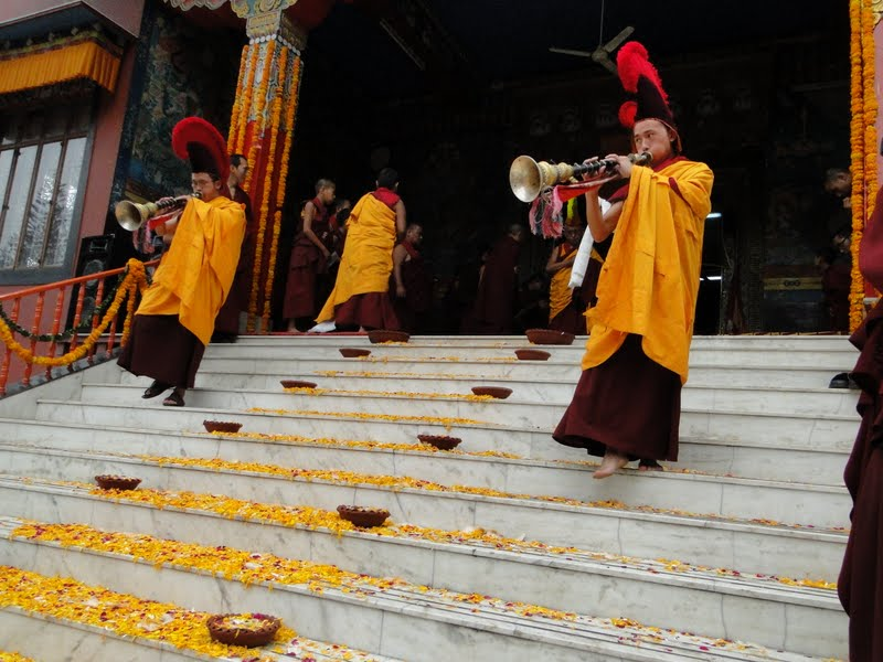 During the Wangya Norbu Tangwa initations, Dheradhun, India