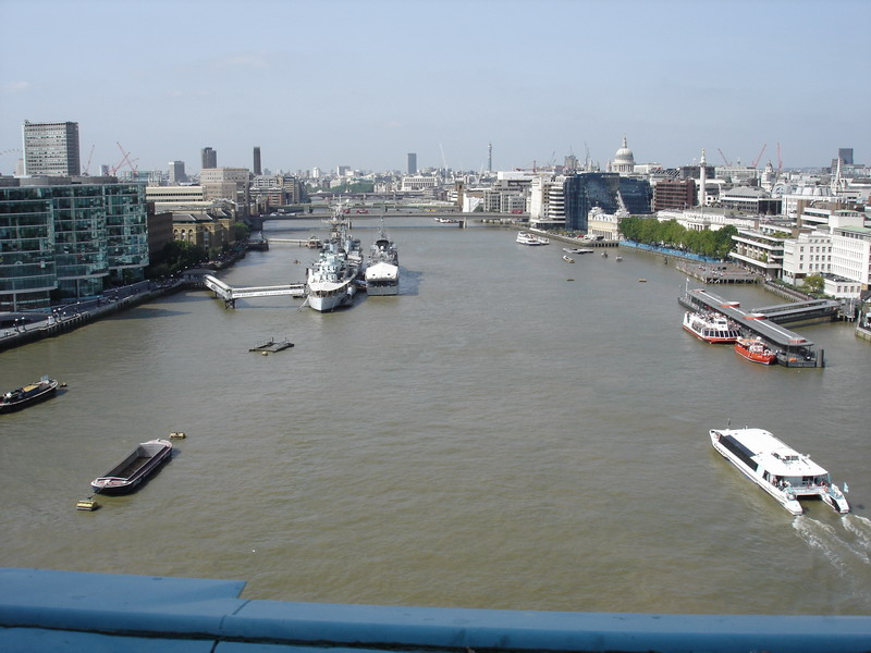 The view of the Thames from Tower Bridge