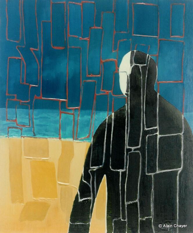 023 - L'Inconnu - 1993 55 x 46 - Acrylique sur toile