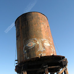 Someone got creative with the water tower at Dos Cabezas