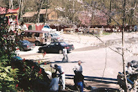1996 - Working on front of temple retaining wall
