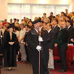 A Selye János Egyetem ünnepi tanévnyitójának bevonulási ceremóniája