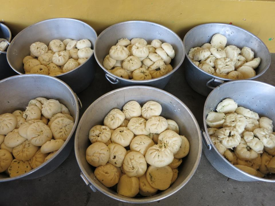 Vegetable buns, offered by the Sera Je Food Fund