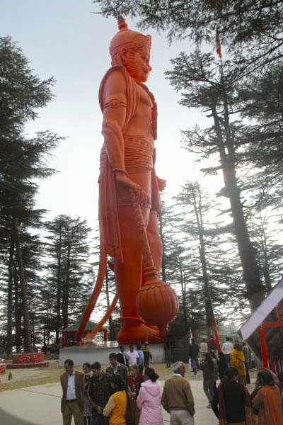 108 feet hanuman statue at jakhoo temple shimla