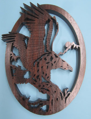 Bald Eagle #3 by Bob Valle Creative Woodworks and Crafts June 2011 Black Walnut