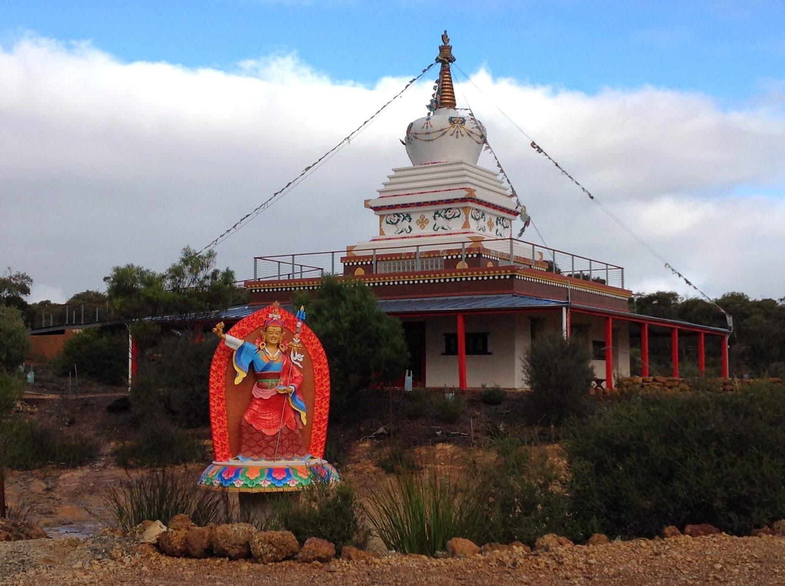 9 ft Padmasambhava statue at De-Tong Ling Retreat Centre, Kangaroo Island, AUS.