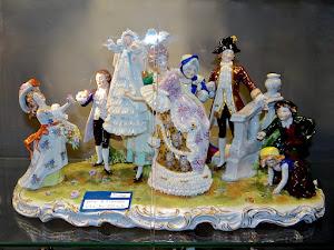 """Скульптурная композиция  """"День рождения"""". Германия ок.1900 г."""