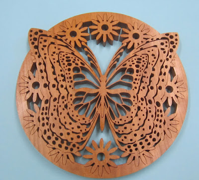 Butterfly Trivet/Plaque Pattern by Charles Hand