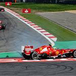 Felipe Massa spins his Ferrari F138