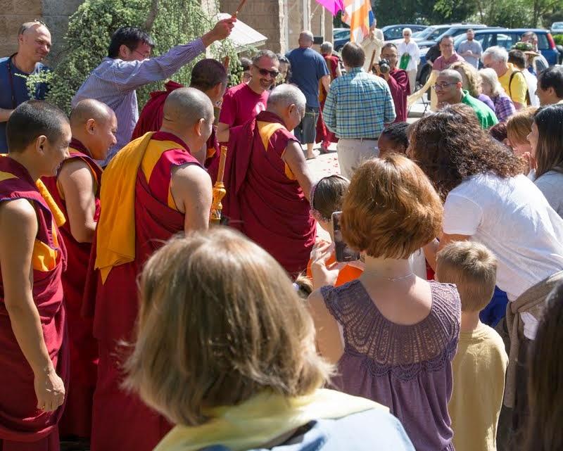 Lama Zopa Rinpoche at Kadampa Center, Raleigh, North Carolina, US, May 3, 2014. Photo by David Strevel.