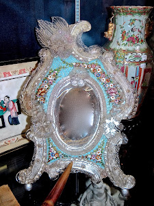 Настольное венецианское зеркало. 19-й век. 26/40 см. 1500 евро.
