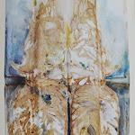 Olivo cyano ed indaco 35 x 50 cm su carta