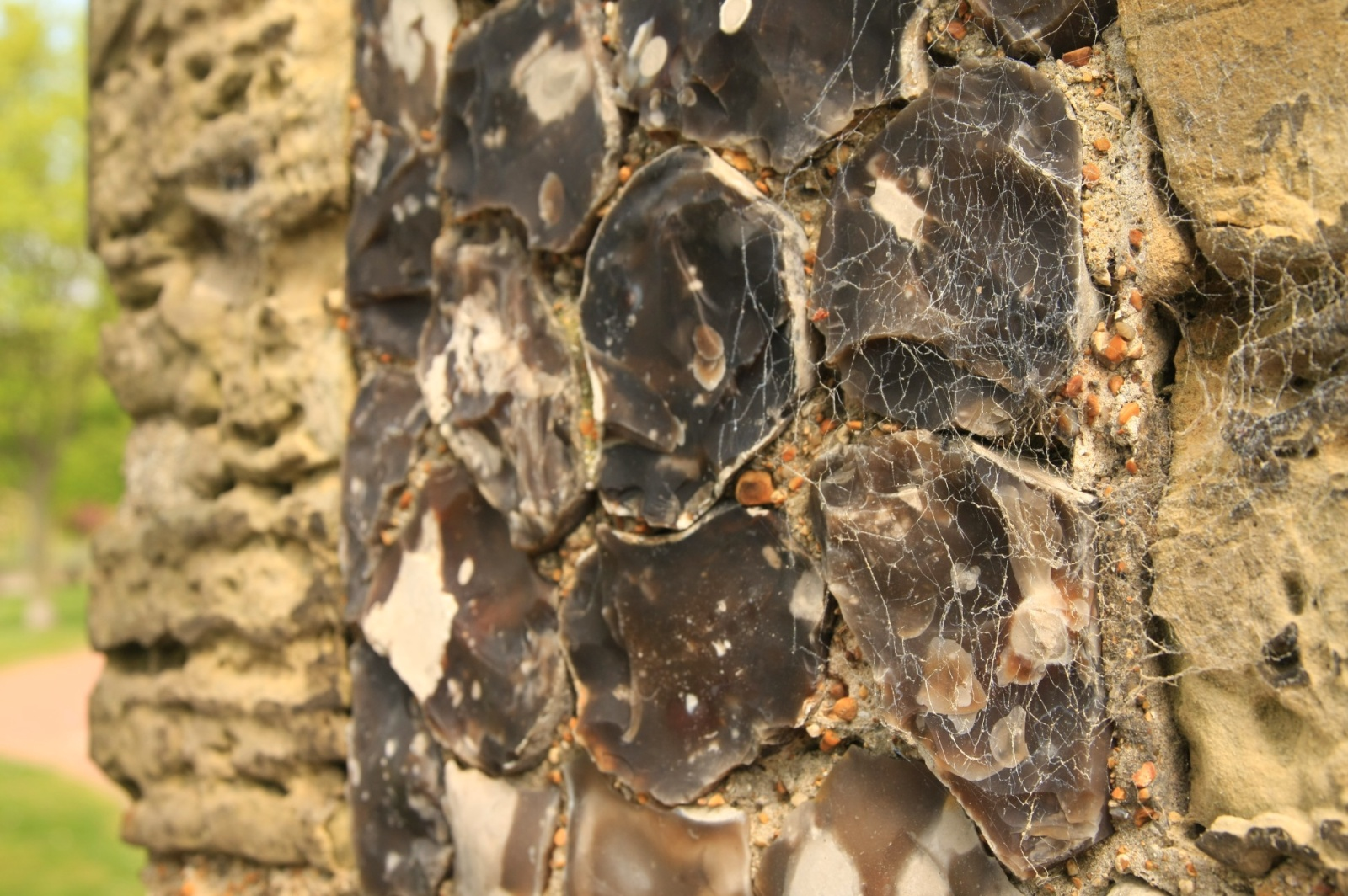 The walls of Brighton's oldest building - St. Nicholas' church - decorated with silicon